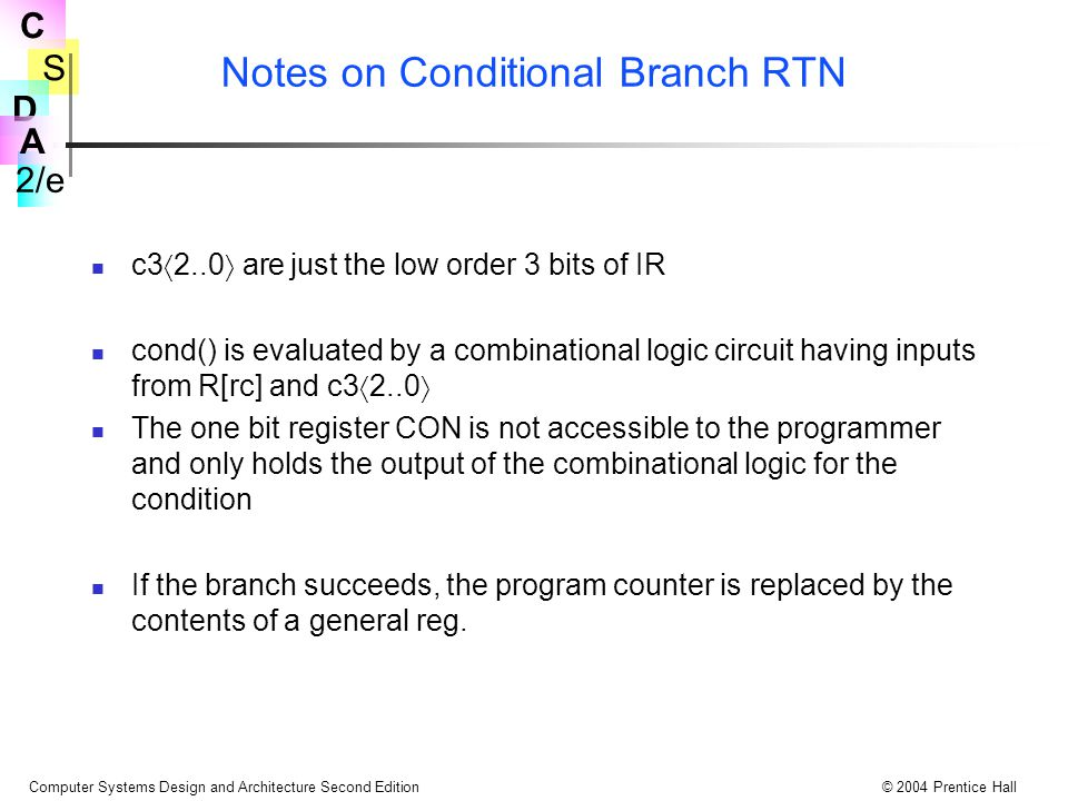 Notes on Conditional Branch RTN