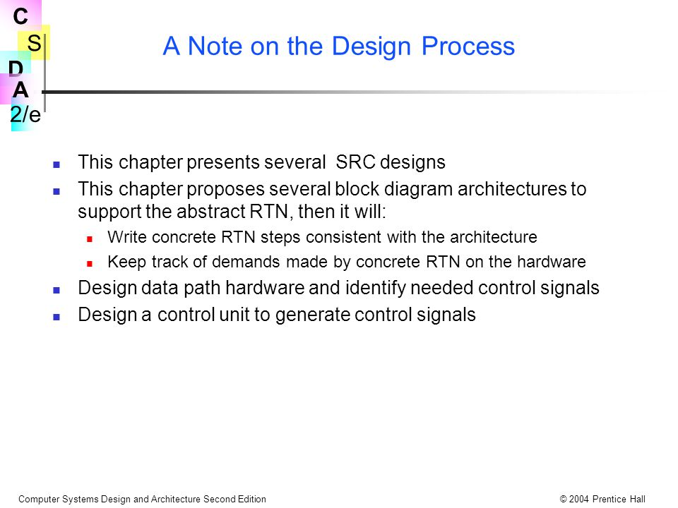 A Note on the Design Process