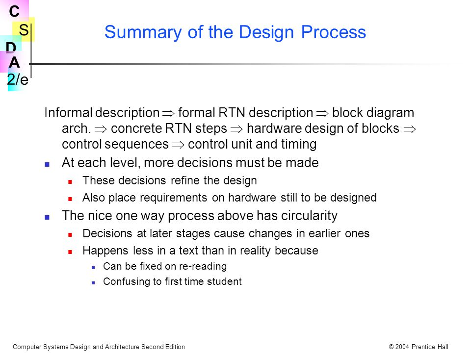 Summary of the Design Process
