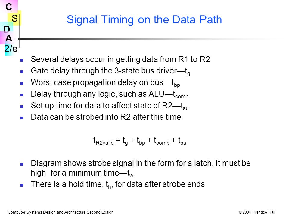 Signal Timing on the Data Path