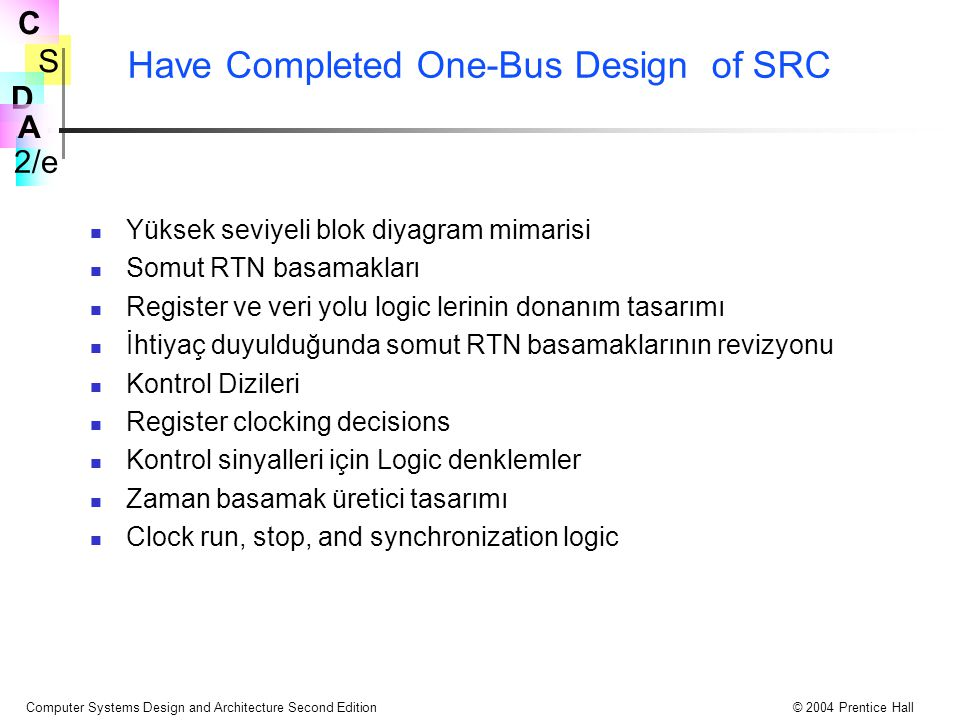 Have Completed One-Bus Design of SRC