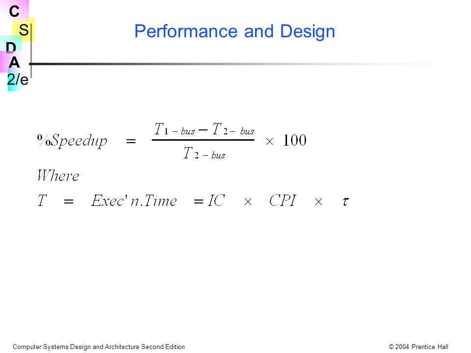 Performance and Design