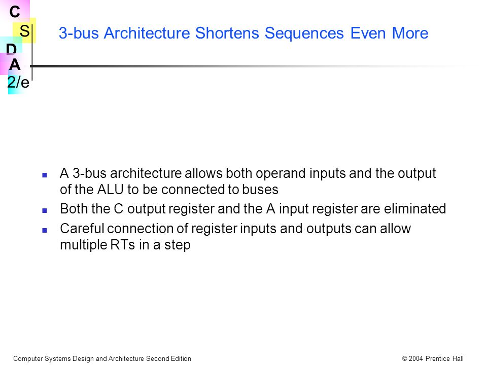 3-bus Architecture Shortens Sequences Even More