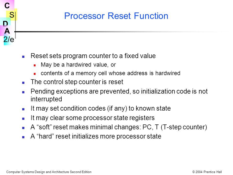 Processor Reset Function