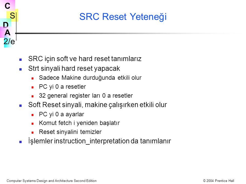 SRC Reset Yeteneği SRC için soft ve hard reset tanımlarız