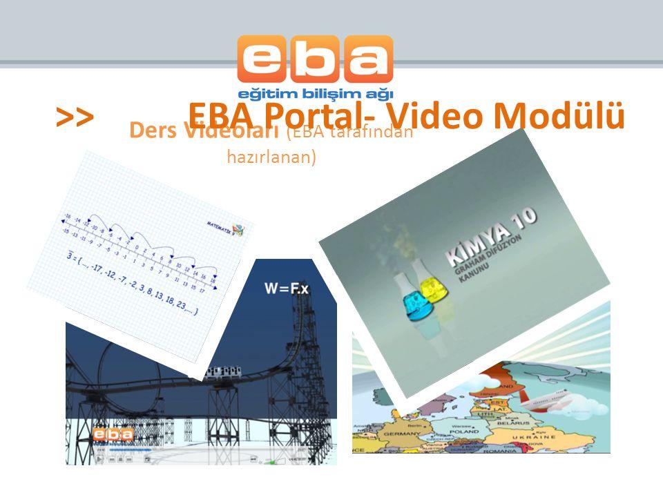 Ders Videoları (EBA tarafından hazırlanan)