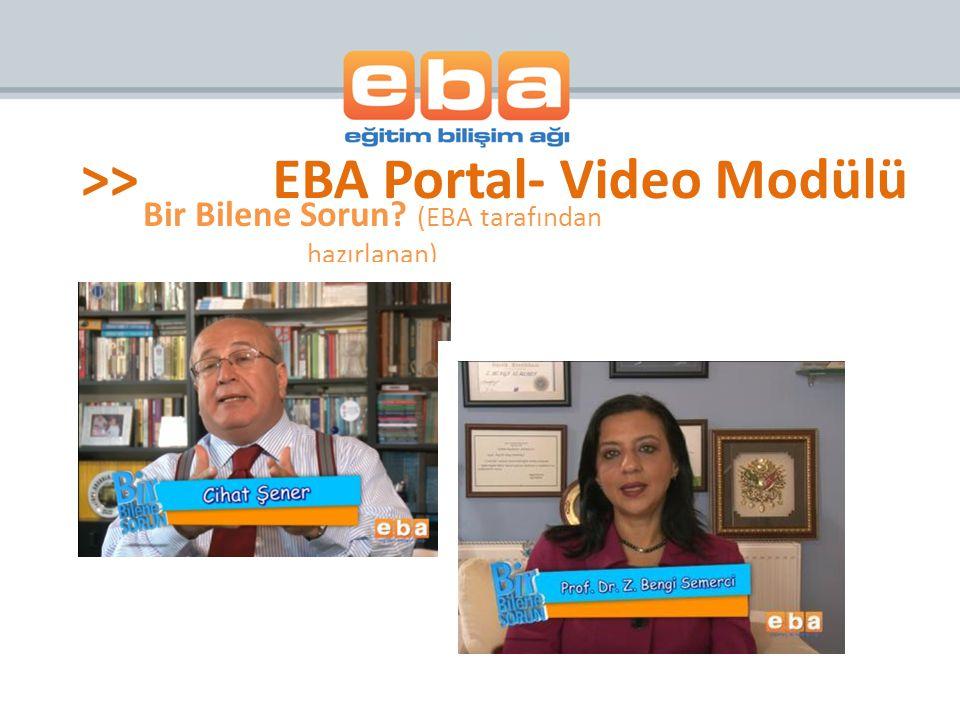 Bir Bilene Sorun (EBA tarafından hazırlanan)