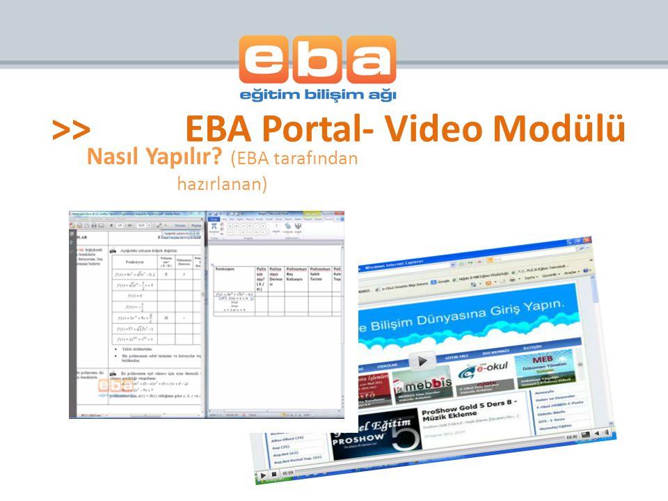 Nasıl Yapılır (EBA tarafından hazırlanan)