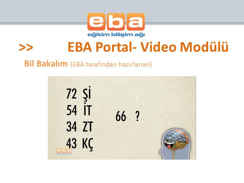 Bil Bakalım (EBA tarafından hazırlanan)