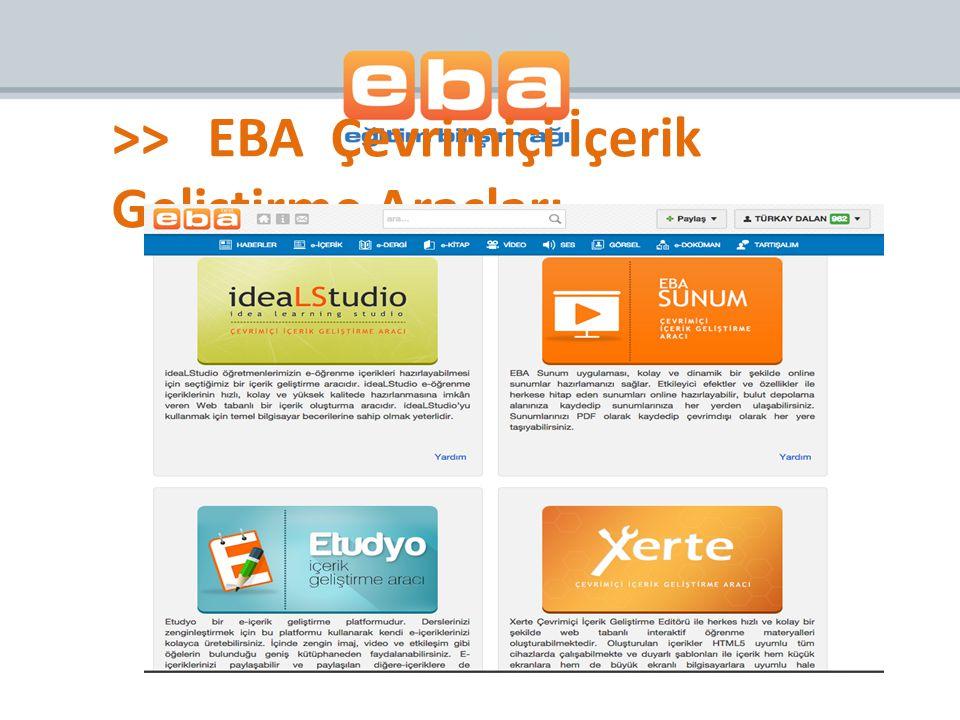 >> EBA Çevrimiçi İçerik Geliştirme Araçları