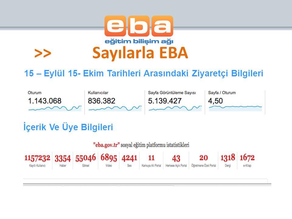 >> Sayılarla EBA