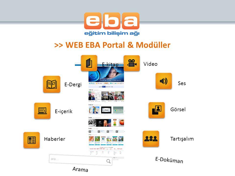 >> WEB EBA Portal & Modüller