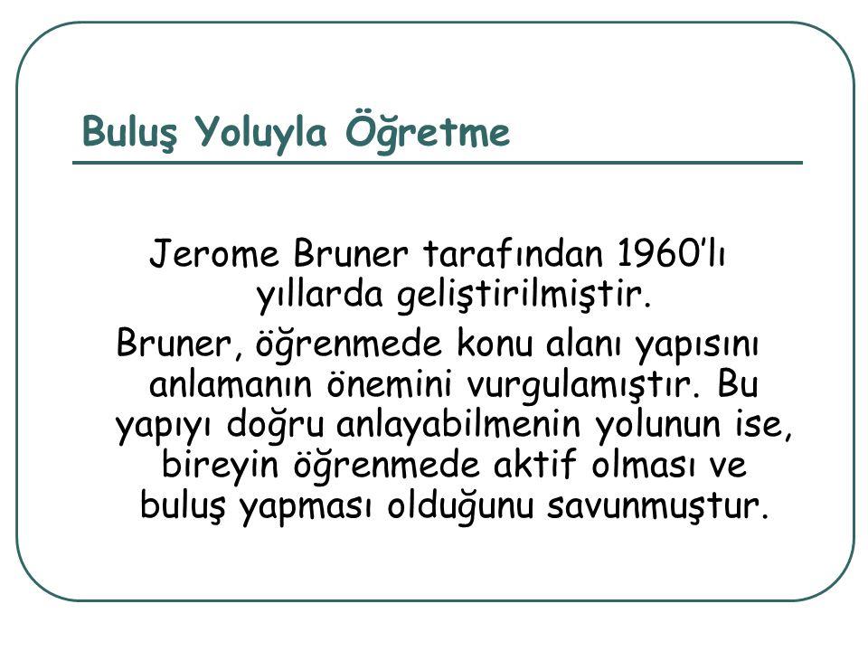 Jerome Bruner tarafından 1960'lı yıllarda geliştirilmiştir.