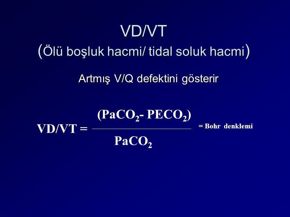 VD/VT (Ölü boşluk hacmi/ tidal soluk hacmi)