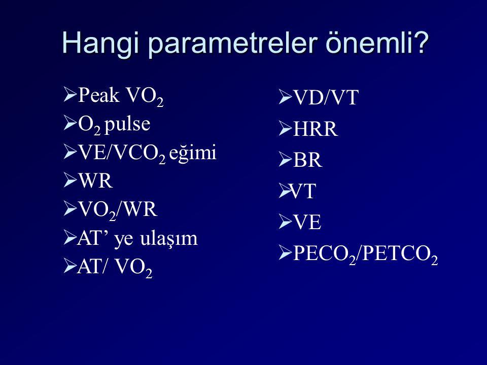 Hangi parametreler önemli