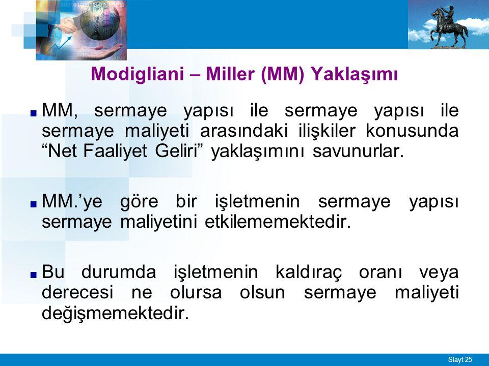 MM Varsayımları Sermaye piyasalarında tam rekabet koşulları geçerlidir.