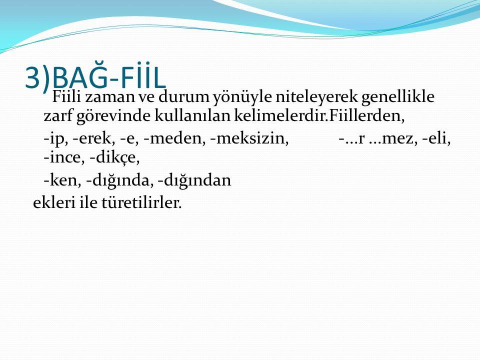 3)BAĞ-FİİL