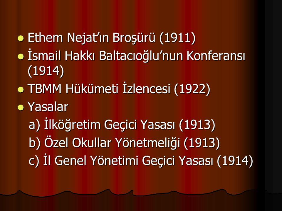 Ethem Nejat'ın Broşürü (1911)