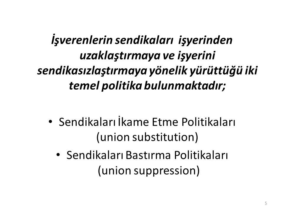 Sendikaları İkame Etme Politikaları (union substitution)