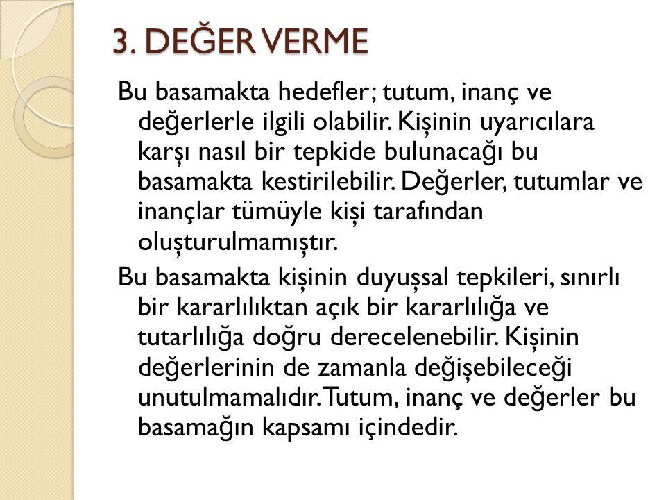 3. DEĞER VERME