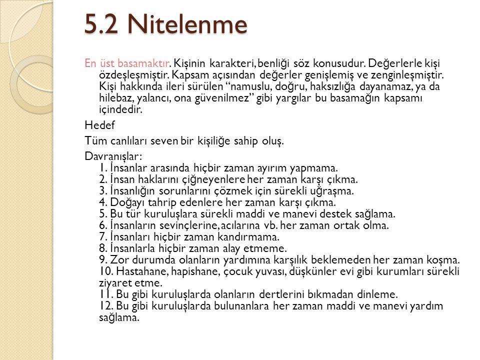 5.2 Nitelenme