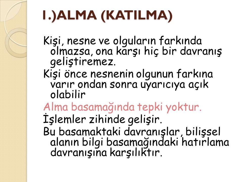 1.)ALMA (KATILMA)