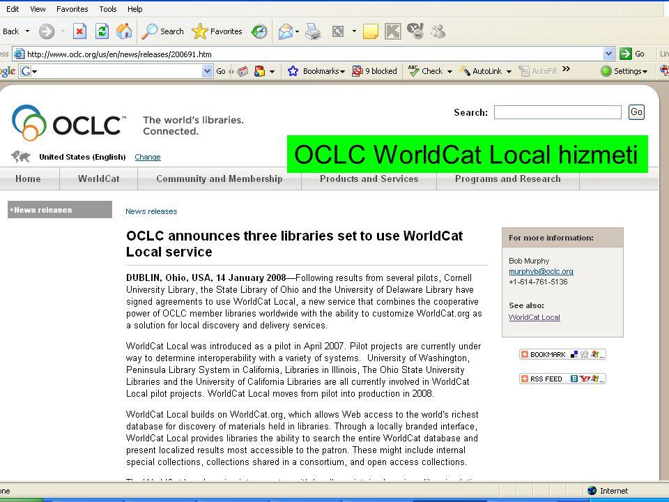 OCLC WorldCat Local hizmeti