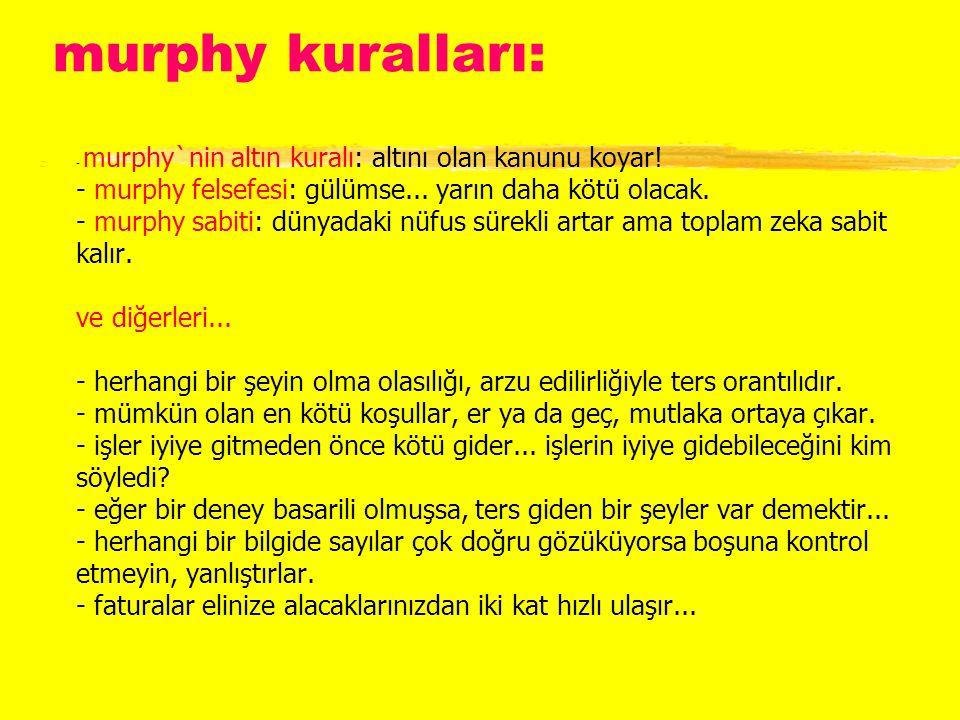 murphy kuralları: