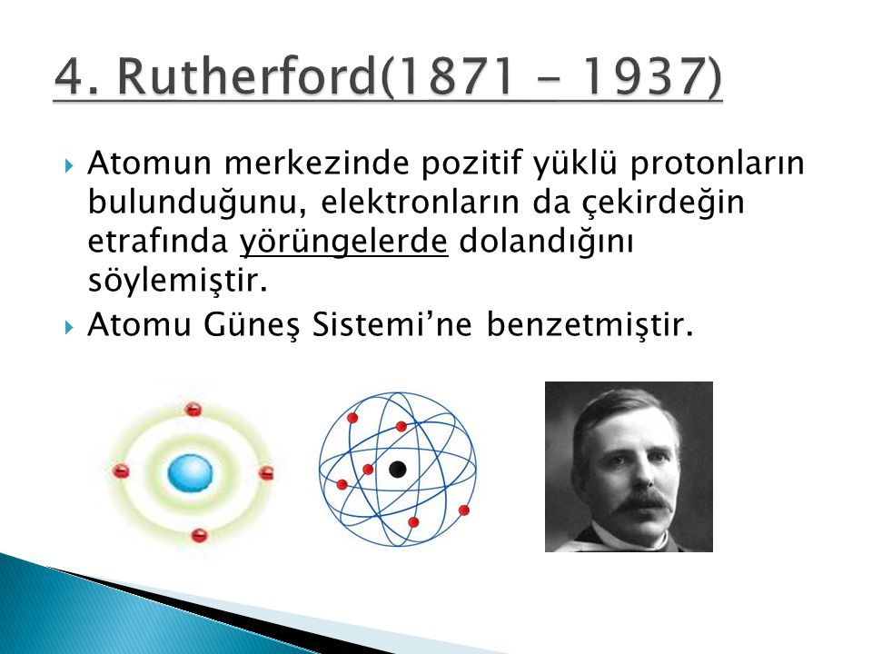 4. Rutherford(1871 - 1937)