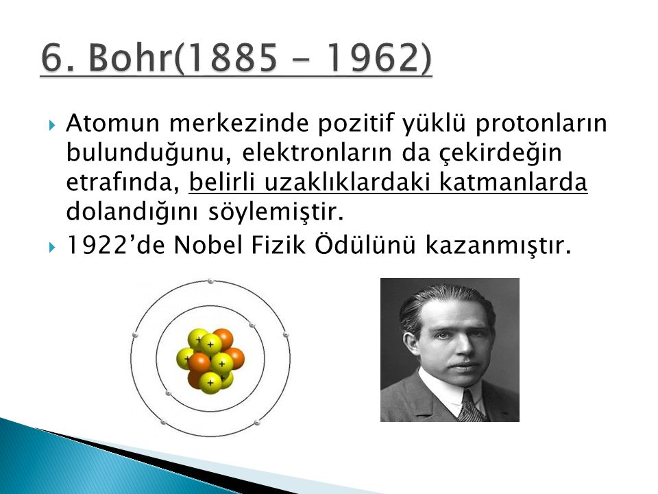 6. Bohr(1885 - 1962)