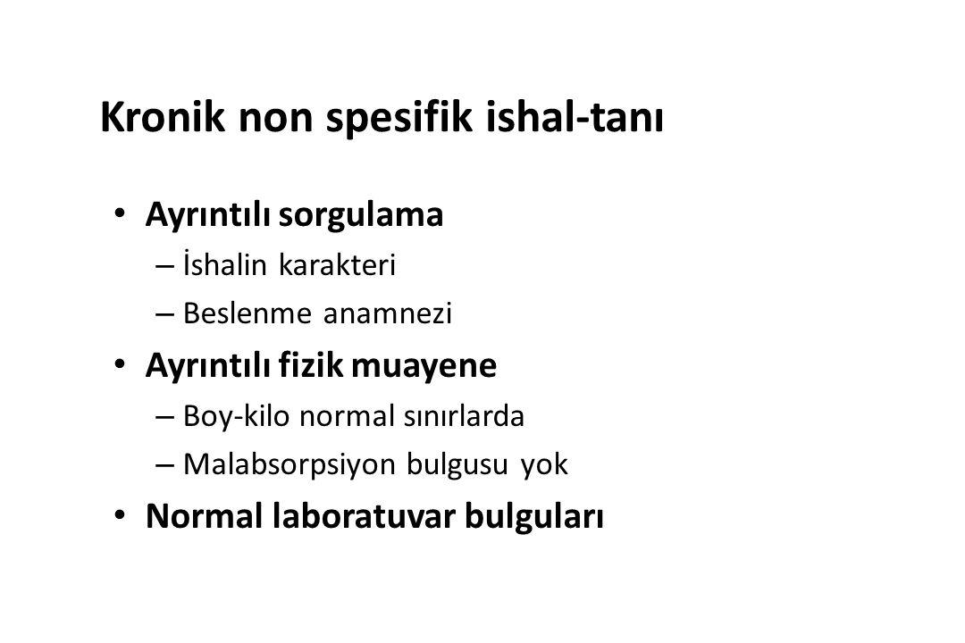 Kronik non spesifik ishal-tanı