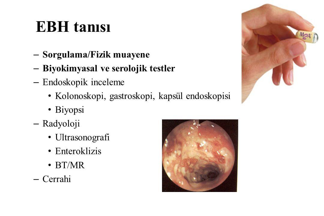 EBH tanısı Sorgulama/Fizik muayene Biyokimyasal ve serolojik testler