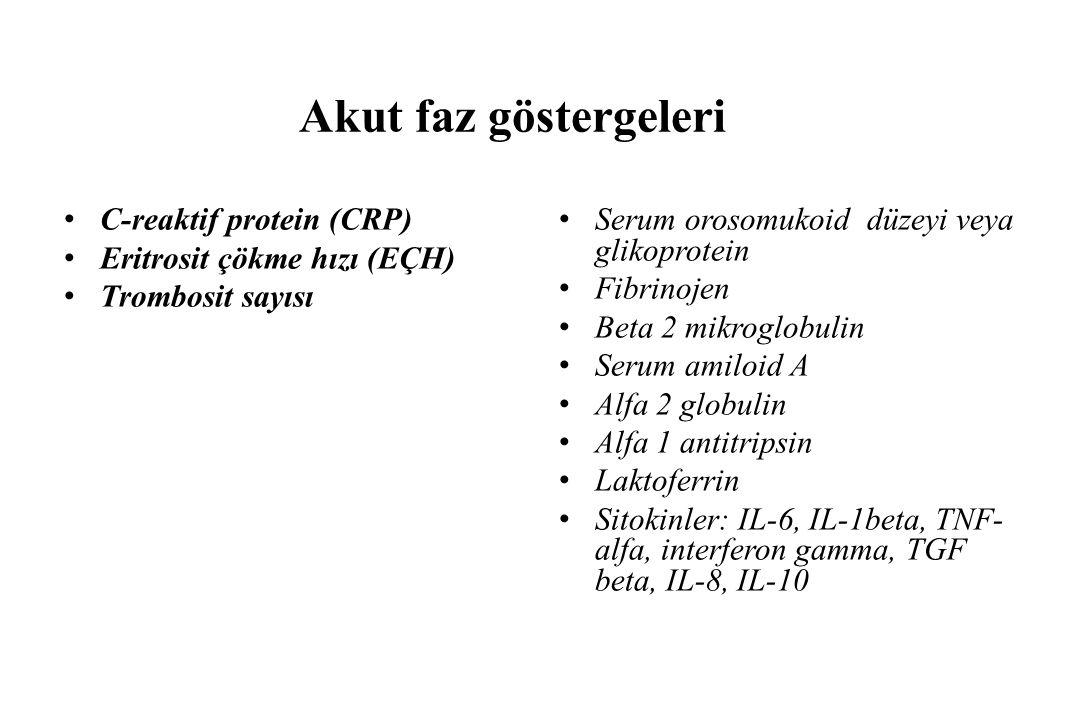 Akut faz göstergeleri C-reaktif protein (CRP)