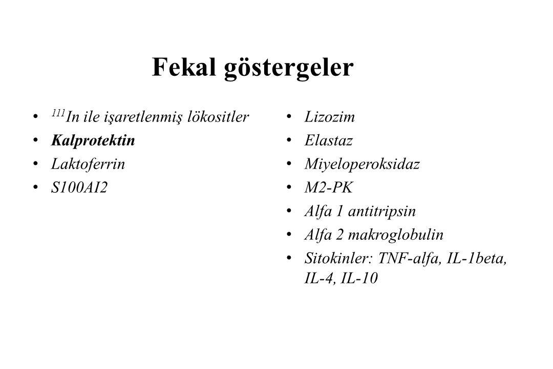 Fekal göstergeler 111In ile işaretlenmiş lökositler Kalprotektin
