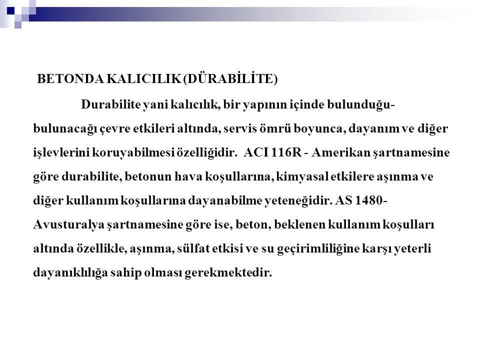 BETONDA KALICILIK (DÜRABİLİTE)