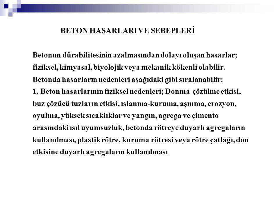 BETON HASARLARI VE SEBEPLERİ
