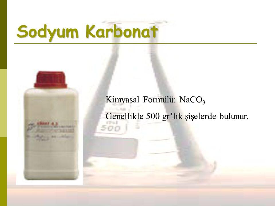 Sodyum Karbonat Kimyasal Formülü: NaCO3