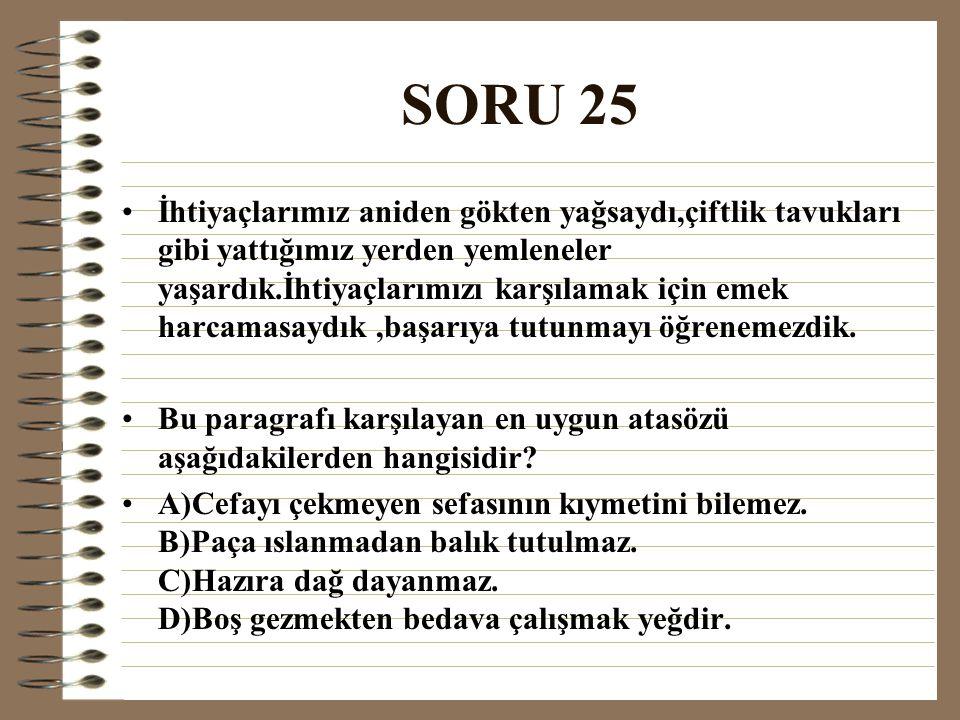 SORU 25