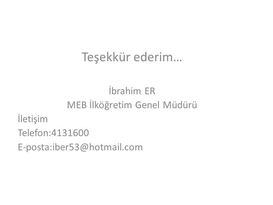MEB İlköğretim Genel Müdürü