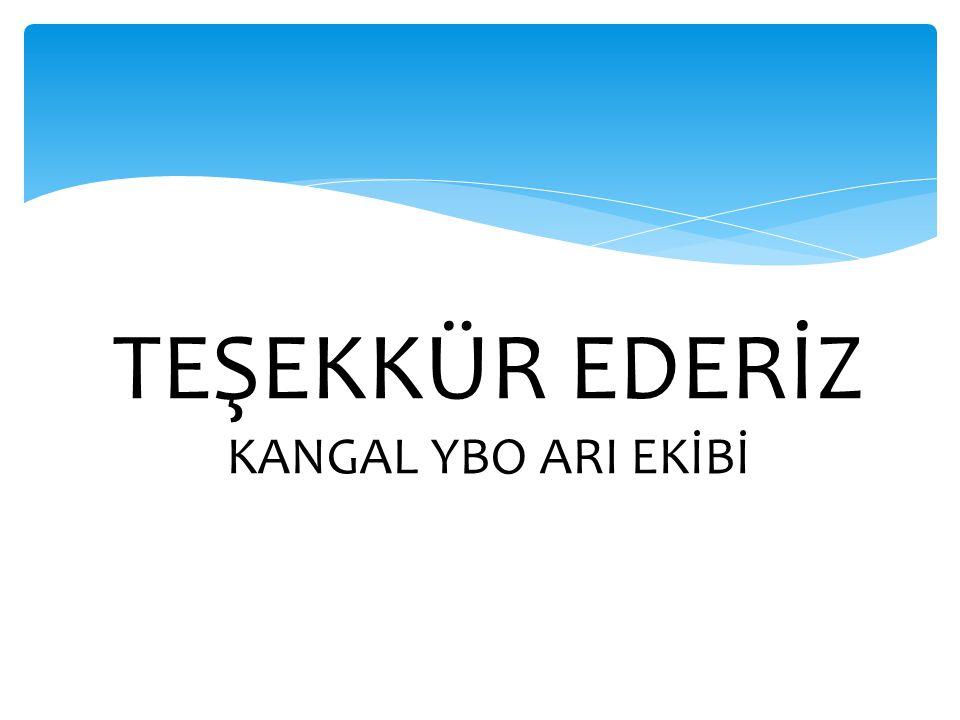 TEŞEKKÜR EDERİZ KANGAL YBO ARI EKİBİ