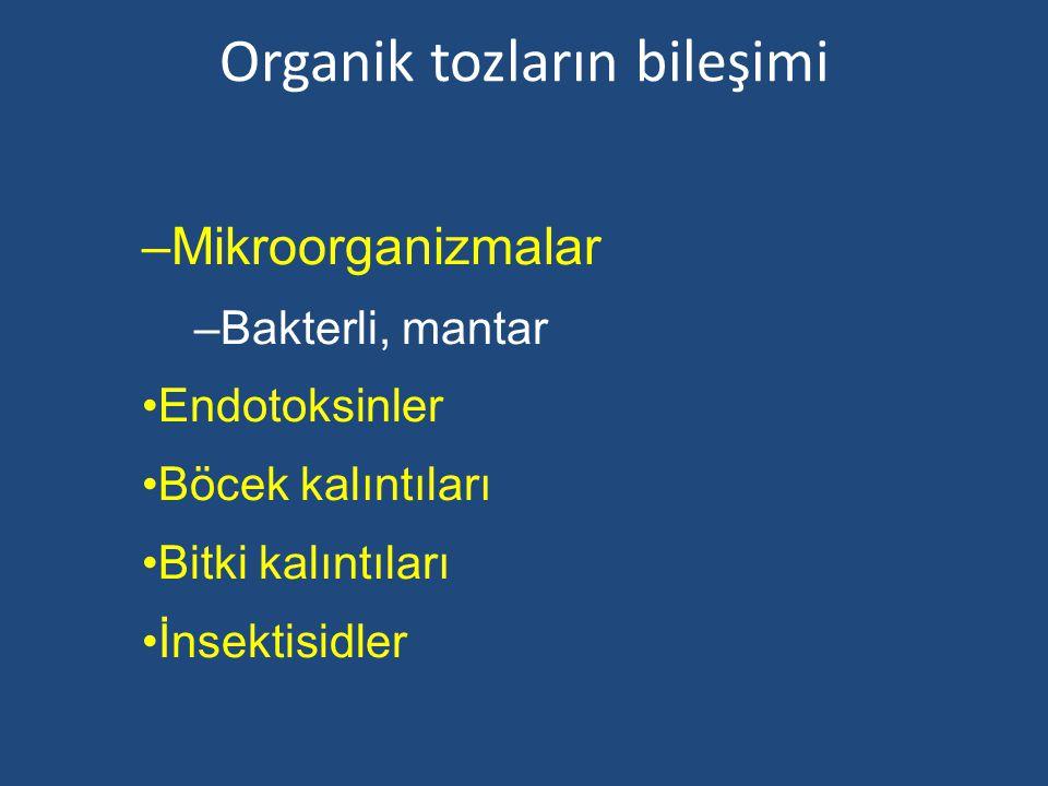 Organik tozların bileşimi
