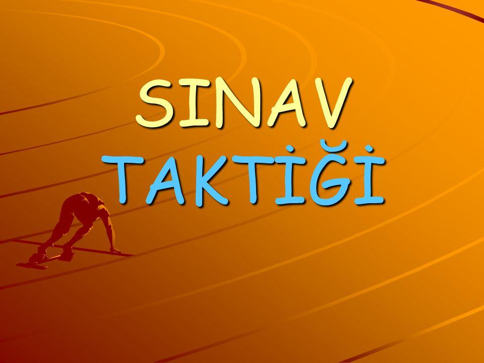 SINAV TAKTİĞİ