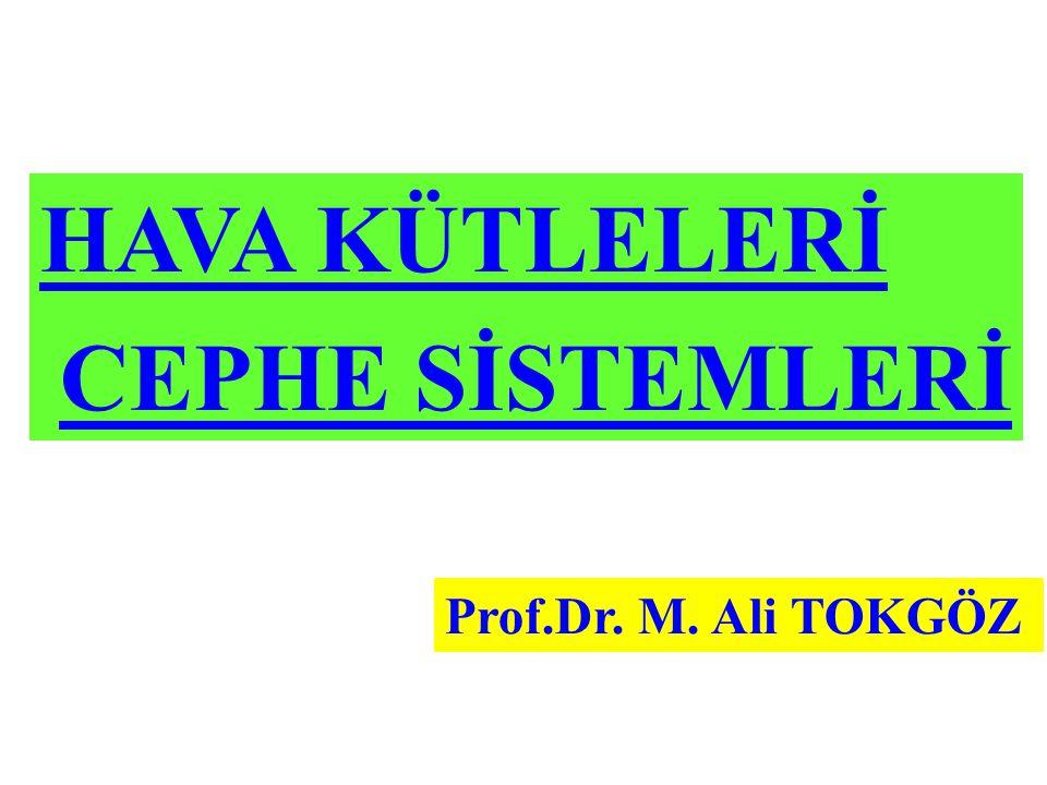 HAVA KÜTLELERİ CEPHE SİSTEMLERİ Prof.Dr. M. Ali TOKGÖZ