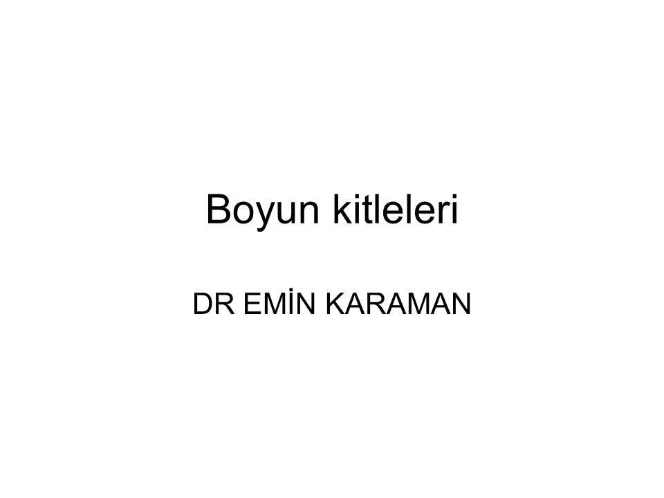 Boyun kitleleri DR EMİN KARAMAN