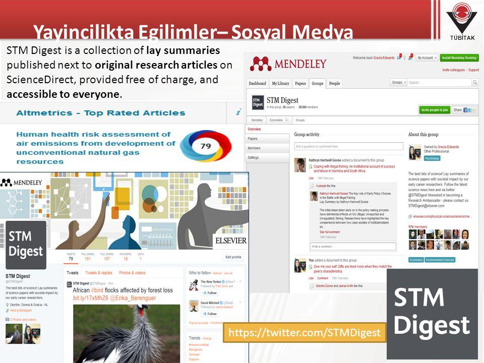 Yayincilikta Egilimler– Sosyal Medya