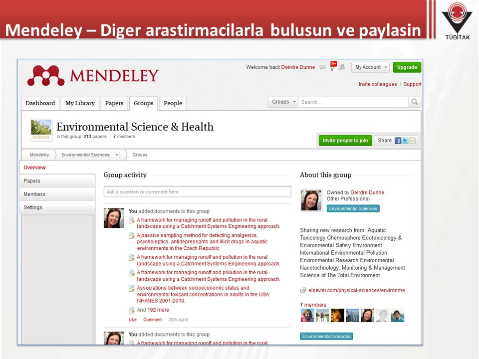 Mendeley – Diger arastirmacilarla bulusun ve paylasin