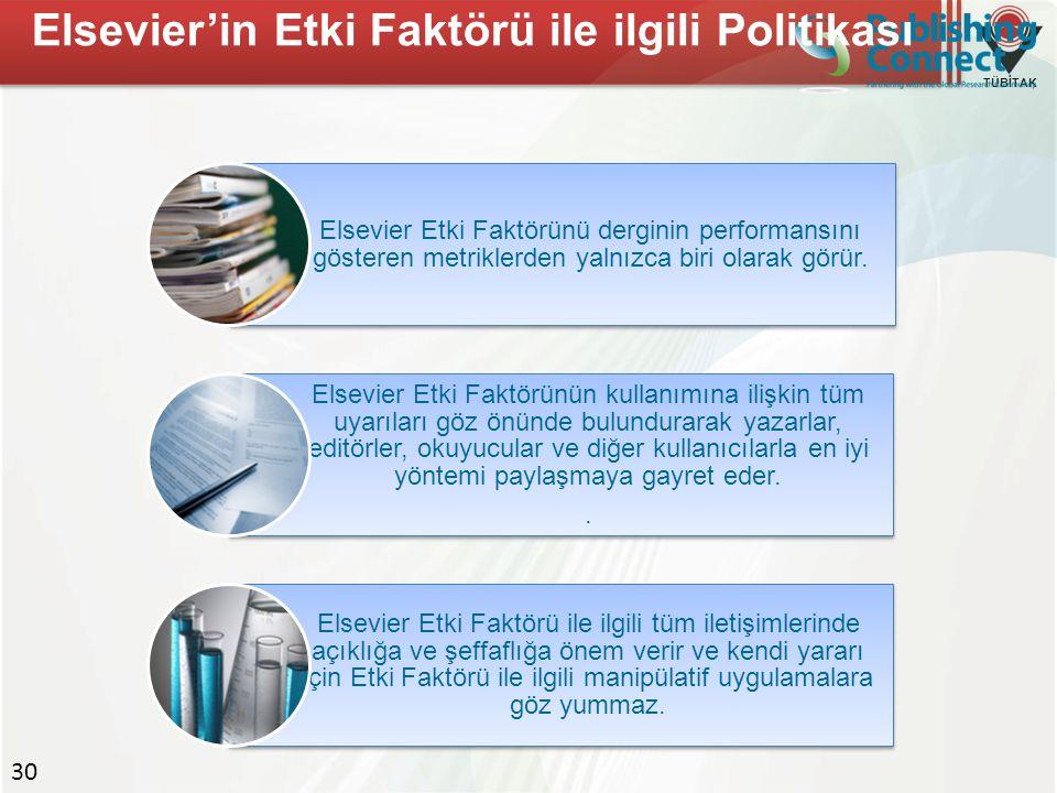 Elsevier'in Etki Faktörü ile ilgili Politikası