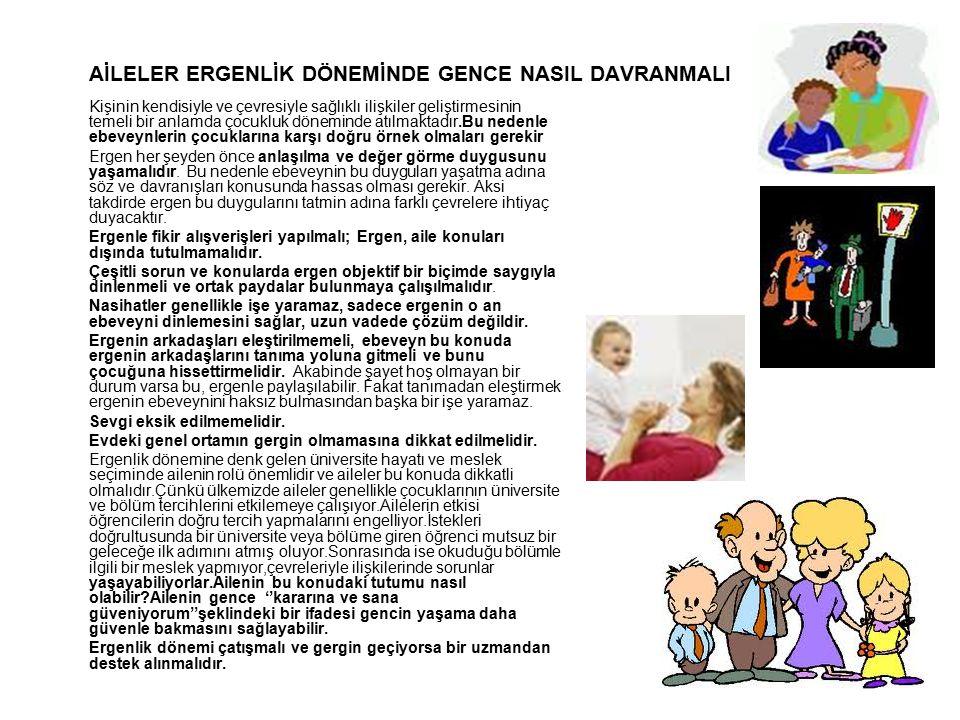 AİLELER ERGENLİK DÖNEMİNDE GENCE NASIL DAVRANMALI
