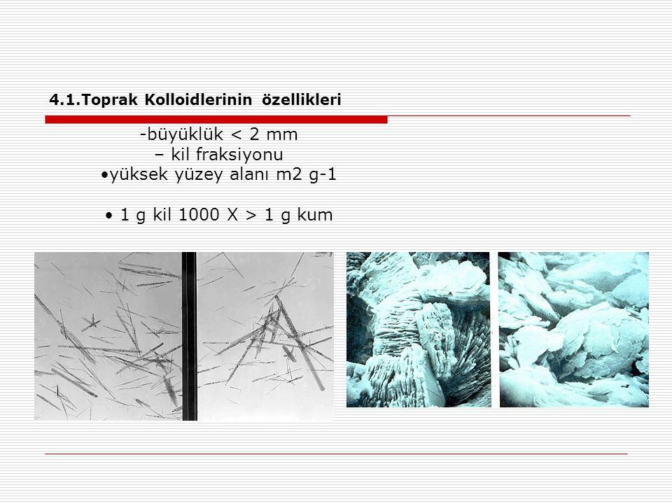 4.1.Toprak Kolloidlerinin özellikleri