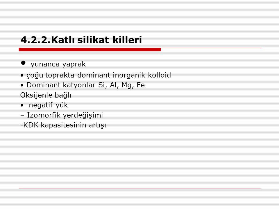 • yunanca yaprak 4.2.2.Katlı silikat killeri